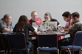 Hacking area at OSCON 2013