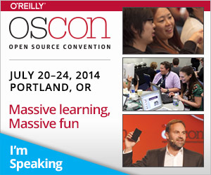 I'm speaking at OSCON 2014