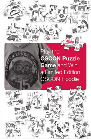 Play the puzzle game and win a limited edition OSCON hoodie