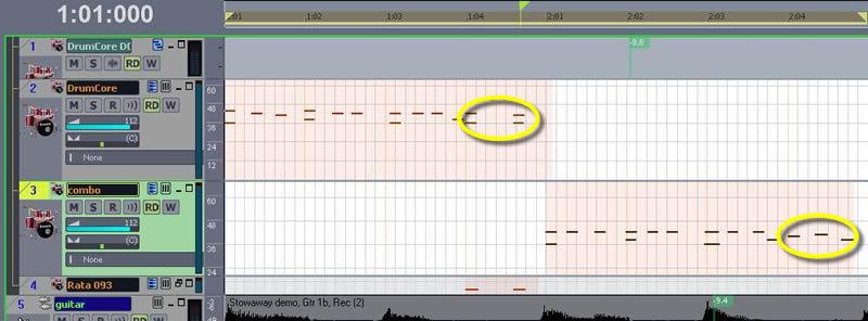 Fig. 8: Weeding MIDI Redundancies