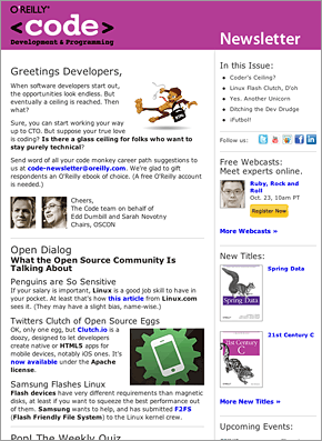 Code Newsletter Sample