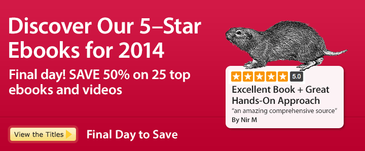 Discover Our 5-Star Ebooks for 2014 - Save 50% Ebooks & Videos