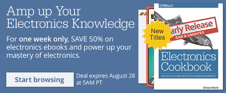 SAVE 50% on Electronics ebooks