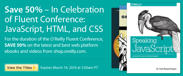 Save 50% in Celebration of Fluent Conference - Happening Now