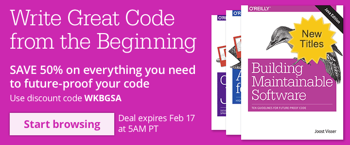 Write Great Code from the Beginning -  SAVE 50% on select titles