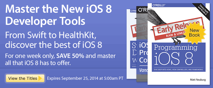 Master the New iOS 8 Developer Tools - Save 50% on iOS 8 Ebooks and Videos