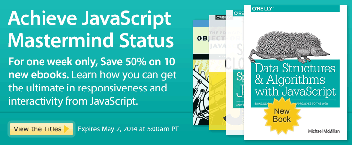 Achieve JavaScript Mastermind Status - Save 50% on JavaScript Ebooks