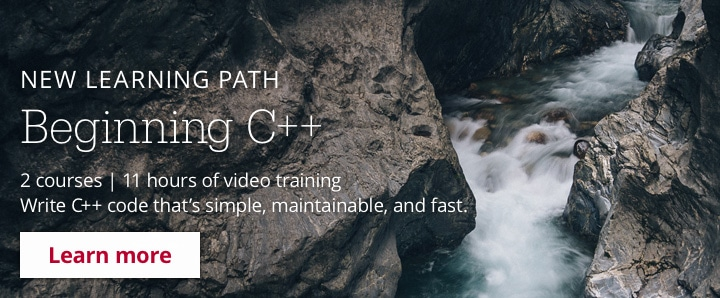 New Learning Path: Beginning C++