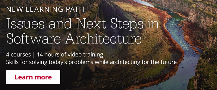 New Learning Path: Issues and Next Steps in Software Architecture