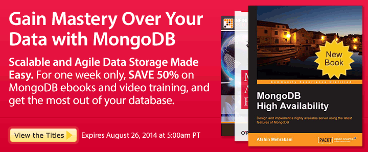 Gain Mastery Over Your Data with MongoDB - Save 50% on MongoDb Ebooks & Videos