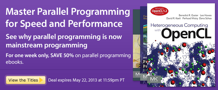 Master Parallel Programming for Speed and Performance - Save 50% on these parallel programming ebooks