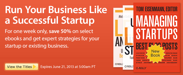 Run Your Business Like a Successful Startup - Save 50% on ebooks for startups