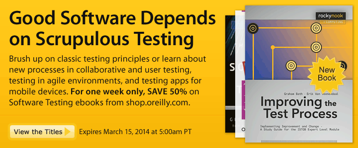 For One Week Only, SAVE 50% on Software Testing Ebooks