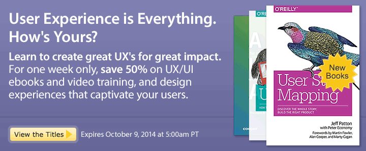 User Experience is Everything. How's Yours? - Save 50% on new UI/UX ebooks