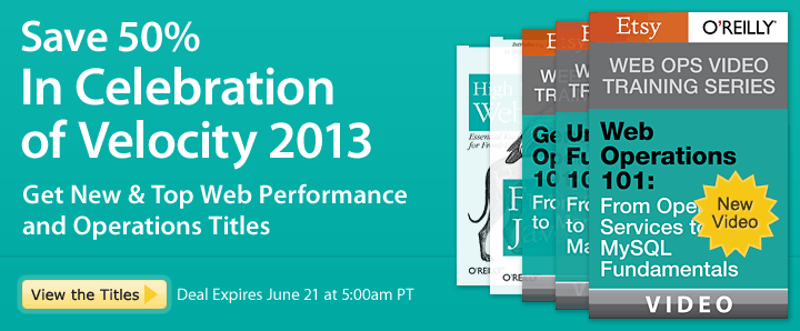 Save 50% - In Celebration of Velocity 2013