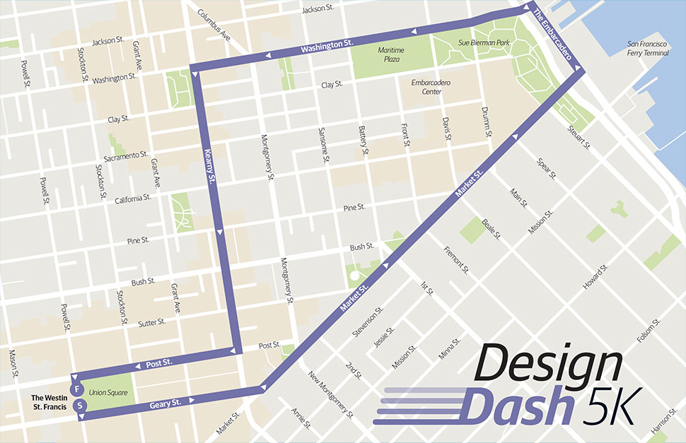 Design Dask 5k map