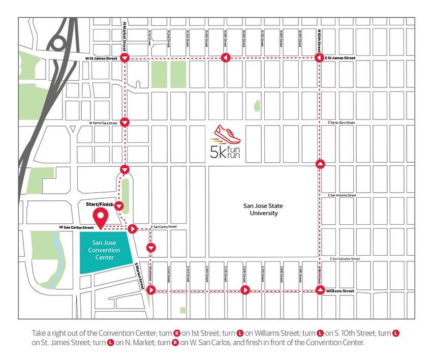The O'Reilly 5K Fun Run/Walk Map