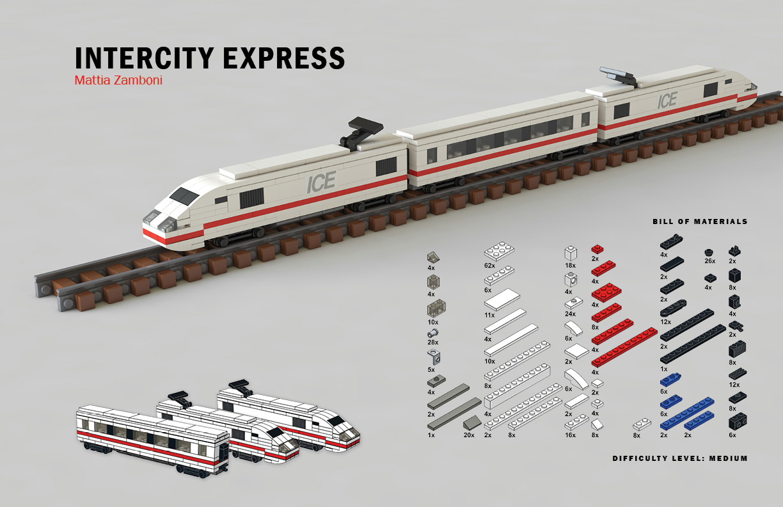 Intercity Express, a LEGO miniscale model