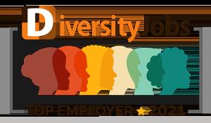 Badge: DiversityJobs - Top Employer, 2021