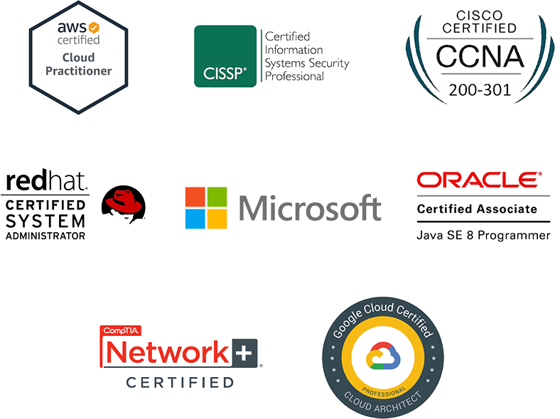 Certification vendor logos