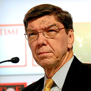 Clayton Christensen, professor of business administration, Harvard Business School