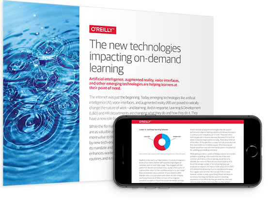 cover for: The new technologies impacting on-demand learning