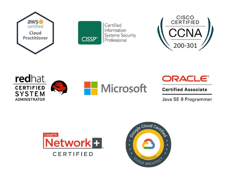 Certification vendor logos