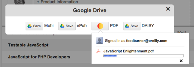 Google Drive progress
