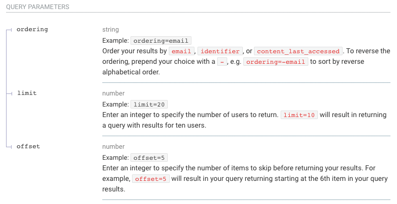 screenshot of insights API query