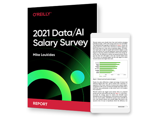 cover for: 2021 Data and AI Salary Survey