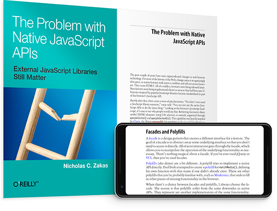 cover for: The Problem with Native JavaScript APIs